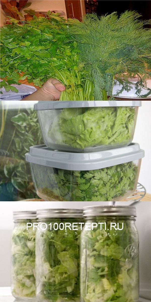 Как сохранить свежую зелень!