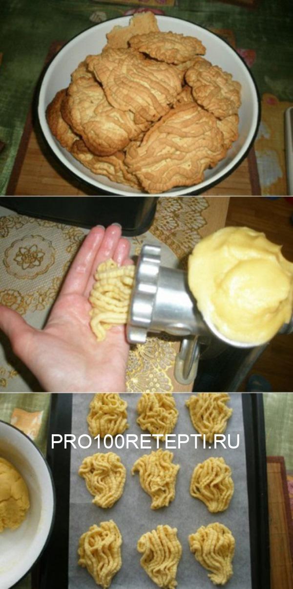 Печенье на мясорубке! Я теперь часто так детям делаю!